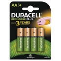 DURACELL Blister de 4 accus rechargeables 1,2V AA HR6 1300mAh