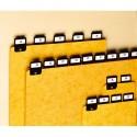 VALREX Jeu de 25 intercalaires avec onglet métallique pour boîte à fiches format A4 en largeur