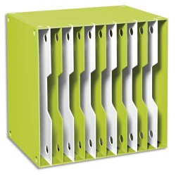 CEP Module CubiCep Gloss en polystyrène superposable 12 compartiments 24x32 - L25 x H35,3 x P35,3 cm anis