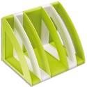 CEP Lot de 6 Trieurs Gloss en polystyrène base modulable pour varier l'écartement L22 x H22 x P30 cm anis