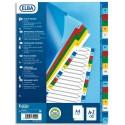 Intercalaire A4 ELBA - Jeu d'intercalaires polypropylène alpha coloré 20 touches
