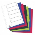 Intercalaire A4 ELBA - Jeu de 6 intercalaires polypro 3/10e opaque coloré
