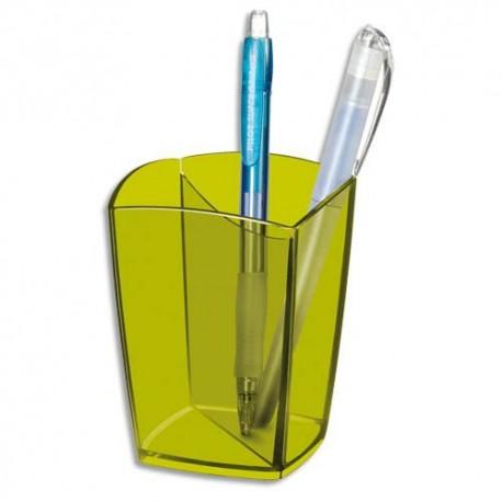 Pot à crayons CEP anis transparent 530T