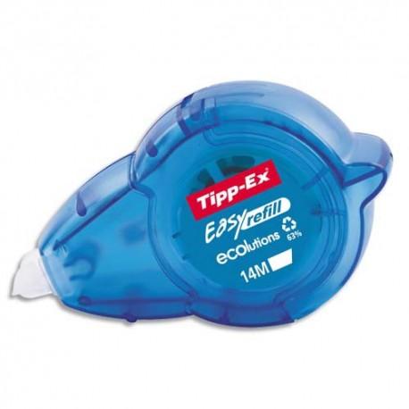 Roller de correction TIPP EX rechargeable Easy refill 5mmx14 mètres. Application frontale