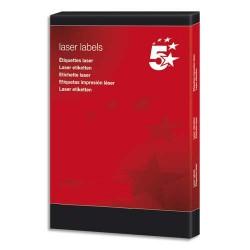 Etiquette Eco 5* - Boîte de 2100 étiquettes laser 63.5 x 38.1mm blanc