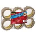 Ruban adhésif d'emballage Scotch PVC Colle caoutchouc naturel 50 microns Dimensions : H50 mm x L66 mètres havane