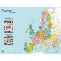 CBG Carte Europe Politique murale - Pelliculée format 66 x 84,5 cm- 4 œillets pour suspension