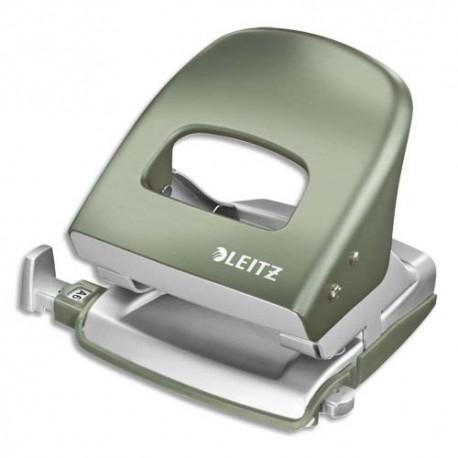 LEITZ Perforateur STYLE vert - 2 trous en métal - Capacité 30 feuilles - Livré en boite