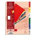 EXACOMPTA Jeu d'intercalaires numériques en polypropylène. 6 touches multicolores. Format A4.