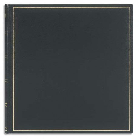 BREPOLS Album photo ELITE 32,5x34cm 100 pages. Feuillets blancs. Couverture noir