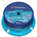 VERBATIM Tour de 25 CD 700 MB 43352 + redevance