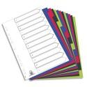 Intercalaire A4 ELBA - Jeu de 12 intercalaires polypro 3/10e opaque coloré