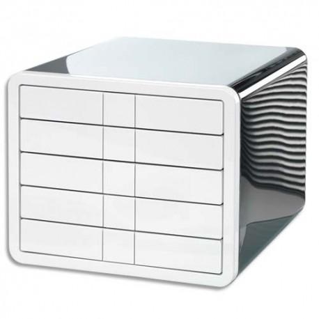 Module de classement HAN - Ilook en ABS - Dimensions L29,5 x H24,7 x P35,5 cm coloris noir blanc