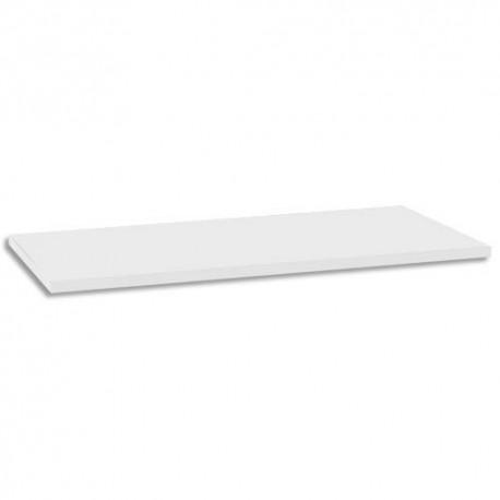GAUTIER Top bois crédence Sunday - Dimensions : L160 x H2 x P46 cm coloris Blanc