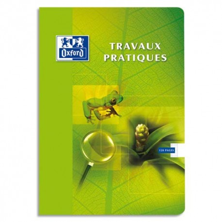 Cahier 24x32 40 pages Seyès+40 pages unies. travaux pratiques Couverture carte Oxford OpenFlex