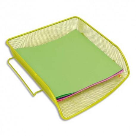 Corbeille à courrier ALBA - Corbeille en métal Mesh - Dimensions : L27 x H6,5 x P34 cm coloris vert