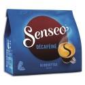 """SENSEO Paquet de 18 dosettes de café moulu """"Décaféiné"""" 125g, environ 7,2g par dosette"""