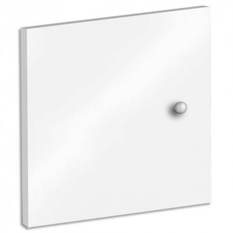MT INTERNATIONAL Lot de 2 Portes + Fonds pour multi-cases MT1 Elégance - Dim. L32,5 x H33 x P1,6 cm blanc