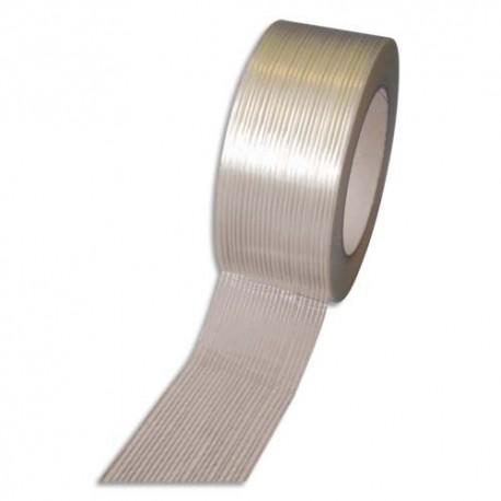 EMBALLAGE Boîte de 36 rubans armé fil longitunale polyester transparent 120 microns, H5 cm x L50 métres