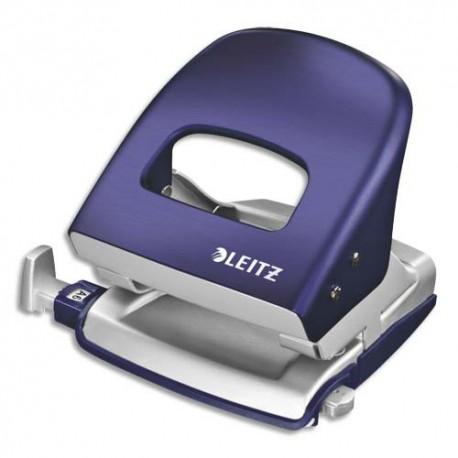 LEITZ Perforateur STYLE bleu -2 trous en métal - Capacité 30 feuilles - Livré en boite
