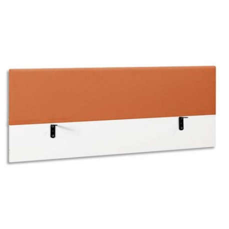 GAUTIER Ecran de séparation 120 tissu mandarine Sunday - Dimensions : L120 x H60 x P5 cm
