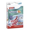 TESA Boîte de 16 languettes Powerstrips large transparentes Déco, supporte jusqu'à  200 gr