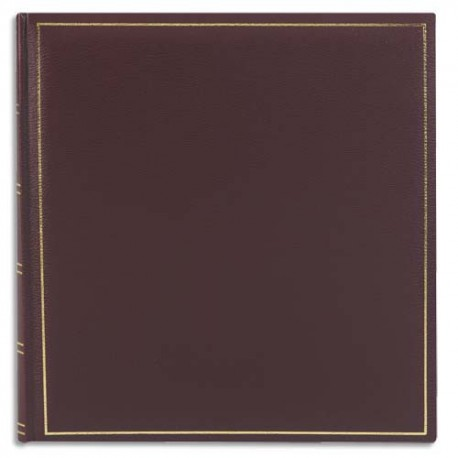 BREPOLS Album photo ELITE 32,5x34cm 100 pages. Feuillets blancs. Couverture bordeaux