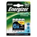 ENERGIZER Blister de 4 accu rechargeables AAA/HR3 800mAh