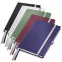 Cahier A6 brochure rigide 160 pages papier 80g ligné. Couverture rigide assortis Leitz Style