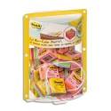 Bloc cube mini Post-it de 400 feuilles 51x51mm - Coloris : rose néon, ultra Présentoir bulle de 24