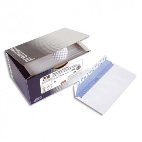GPV boite 200 enveloppes autoadhésives 100G format DL (110x220) fenêtre 45x100 Qualité+