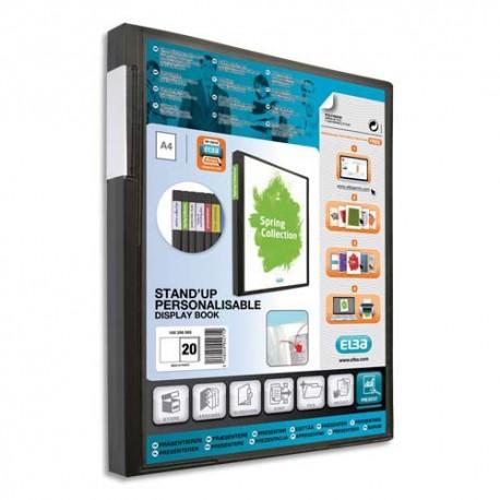 Porte vues ELBA - Protège-documents en polypropylène couverture personnalisable 8/10e 20 pochettes 6/100e