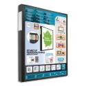Porte vues ELBA - Protège-documents en polypropylène couverture personnalisable 8/10e 20 pochettes 6/100e - Noir