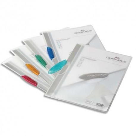 Chemise de présentation Duraclip Swingclip à clip orange couverture semi-transparente capacité 30 feuilles