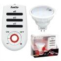 XANLITE Ampoule à Leds culot GU5.3, 180 lumens, puissance 3,4 Watts avec télécommande incluse