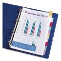 ELBA Intercalaires à onglets colorés personnalisable en polypropylène 14/100e format A4
