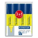 Surligneurs Staedtler Textsurfer coloris jaune pohette 3+1 offert