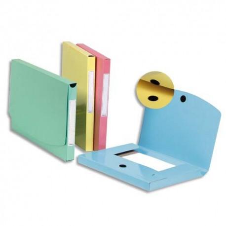 OBLIQUE AZ Paquet de 10 pochettes velcro dos 30 mm bleu