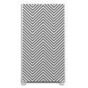 PAPERFLOW Cloison illustrée en tissu décor Zig Zag cadre aluminium, 2 pieds en acier L98 x H180 x P46 cm