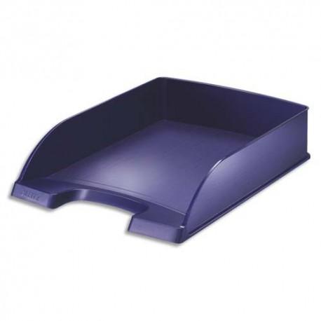 LEITZ Corbeille à courrier Style bleu marine - Dimensions : L25,5 x H7 x P35,7 cm