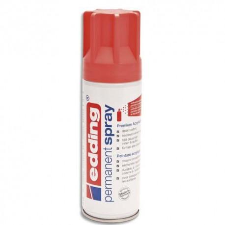 Spray peinture permanente contenance 200ml corail, pour extérieur et intérieur Edding