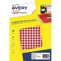 AVERY Sachet de 2940 pastilles Ø8 mm. Imprimables. Coloris rouge.