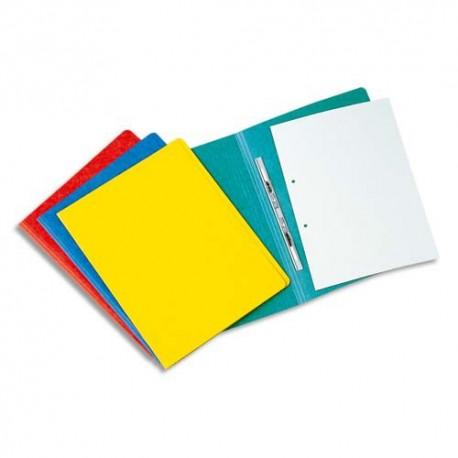Chemise à lamelles Exacompta compresseur capacité 350 feuilles perforées carte lustrée coloris assortis