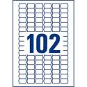 Etiquette AVERY L7115 - Boite de 2040 étiquettes prix enlevables blanches 26 x 16mm