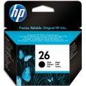 HP 26 (51626A) - Cartouche jet d'encre noire de marque HP N°26 / 51626A