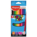 Crayon de couleur Maped COLORPEP'S. pochette de 12 ou 24 coloris assortis