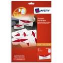 AVERY Paquet de 40 chevalets imprimables 190g/m² - format 180 x 60 mm