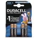 DURACELL Blister de 4 piles Alcalines 1,5V AAA LR03 Ultra Power Duralock