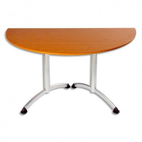 SODEMATUB Table New Line demi-lune hêtre alu