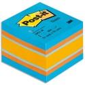 Bloc cube mini Post-it de 400 feuilles 5.1x5.1cm couleur classique
